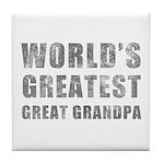 World's Greatest Great Grandpa (Grunge) Tile Coast