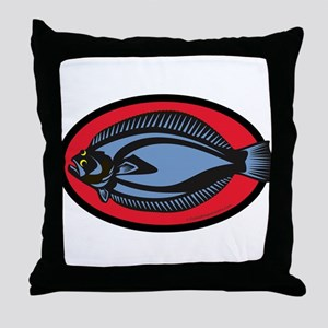 Graphic Flounder Throw Pillow