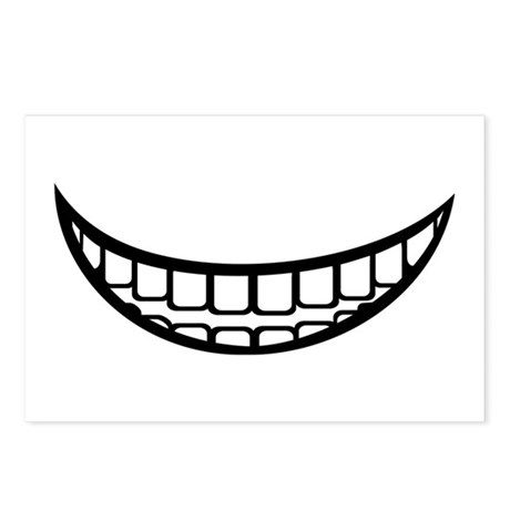 Smile mouth Postcards (Package of 8)