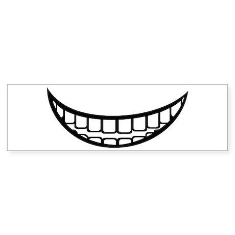 Smile mouth Sticker (Bumper) by Fashionstar
