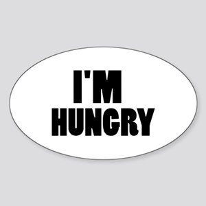 I'm hungry Sticker (Oval)