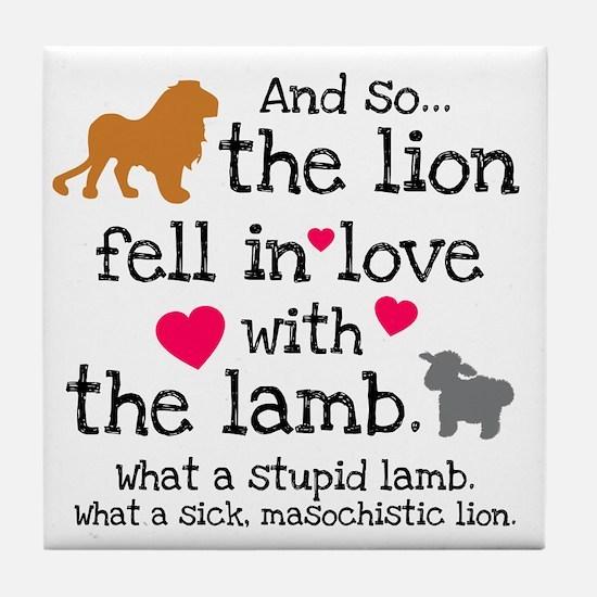 Lion & Lamb Tile Coaster