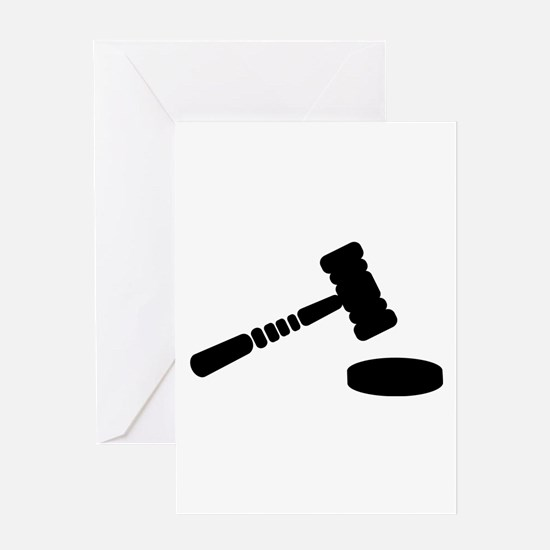 Judge hammer Greeting Card