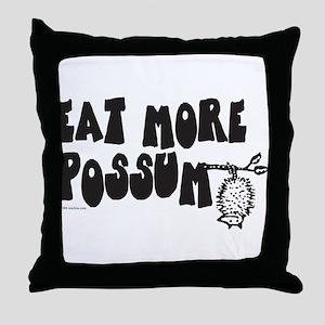 Eat More Possum Throw Pillow