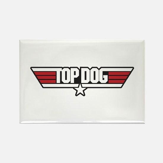 Top Dog Rectangle Magnet