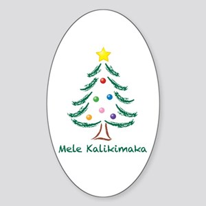 Mele Kalikimaka Sticker (Oval)