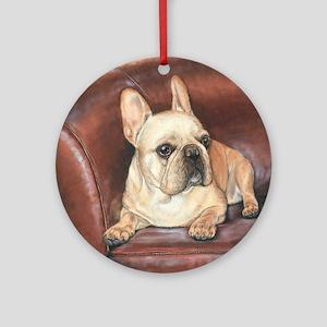 French Bulldog by Dawn Secord Ornament (Round)