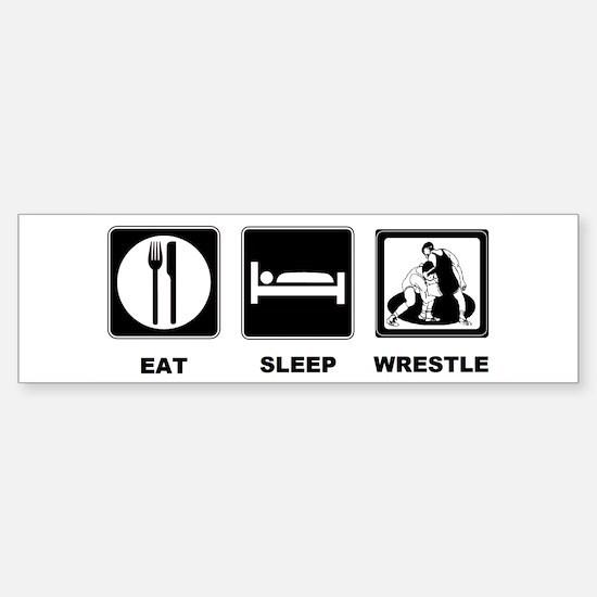 Eat Sleep Wrestle Sticker (Bumper)