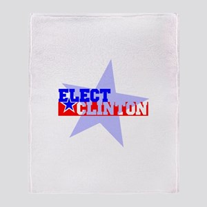 Elect Clinton Throw Blanket