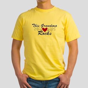 This Grandma Rocks Yellow T-Shirt