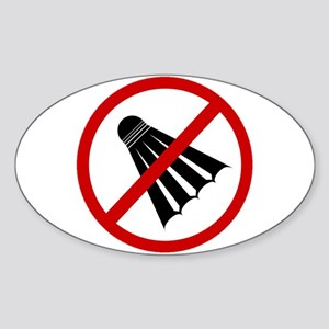 Anti Shuttlecock Sticker (Oval 10 pk)