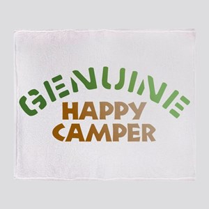 Genuine Happy Camper Throw Blanket
