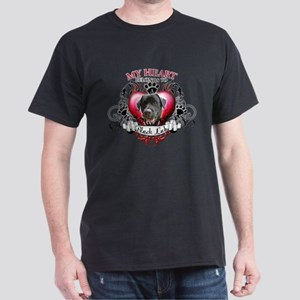 My Heart Belongs to a Black Lab Dark T-Shirt