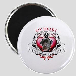 My Heart Belongs to a Black Lab Magnet