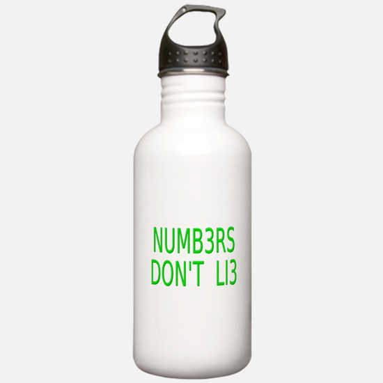 NUMB3RS DON'T LI3 Numbers Water Bottle