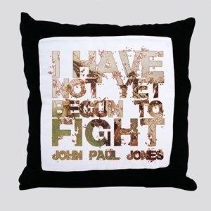 John Paul Jones: I have not y Throw Pillow