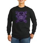 Purple Skull Long Sleeve Dark T-Shirt