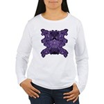 Purple Skull Women's Long Sleeve T-Shirt