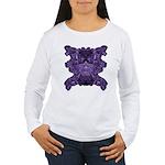 Purple Skull Women's Long Sleeve T-Shirt