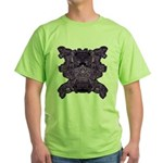 Purple Skull Green T-Shirt