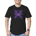 Purple Skull Men's Fitted T-Shirt (dark)