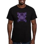 Purple Skull Men's Fitted T-Shirt (dark)