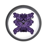 Purple Skull Wall Clock