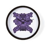 Purple Skull Wall Clock