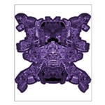 Purple Skull Small Poster
