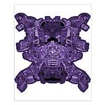 Purple Skull Small Poster