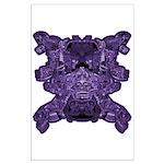 Purple Skull Large Poster