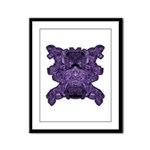 Purple Skull Framed Panel Print