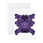 Purple Skull Greeting Cards (Pk of 10)