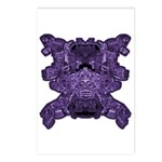 Purple Skull Postcards (Package of 8)