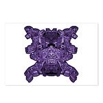 Purple Skull Postcards (Package of 8)
