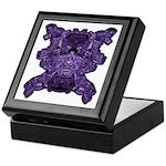 Purple Skull Keepsake Box