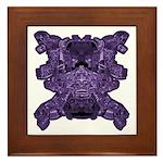 Purple Skull Framed Tile