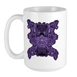 Purple Skull Large Mug