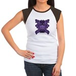 Purple Skull Women's Cap Sleeve T-Shirt