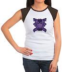 Purple Skull Women's Cap Sleeve T-Shirt