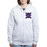 Purple Skull Women's Zip Hoodie