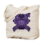 Purple Skull Tote Bag