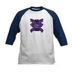 Purple Skull Kids Baseball Jersey