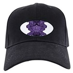 Purple Skull Black Cap