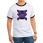 Purple Skull Ringer T