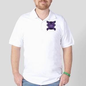 Purple Skull Golf Shirt
