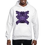 Purple Skull Hooded Sweatshirt