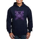 Purple Skull Hoodie (dark)