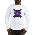 Purple Skull Long Sleeve T-Shirt