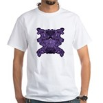 Purple Skull White T-Shirt